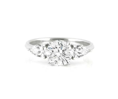 3 Stone Diamond Engagement Ring