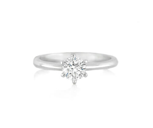 Solitaire Diamond Engagement Ring 004