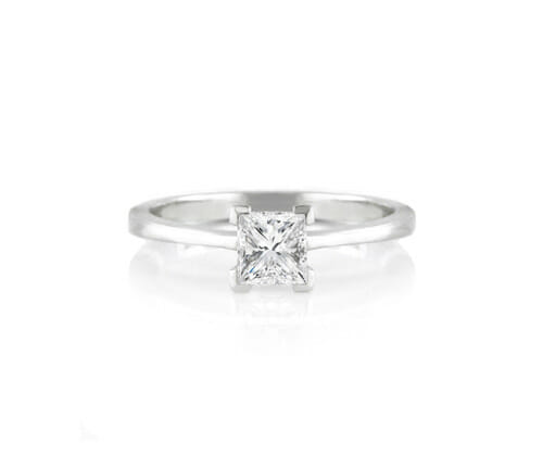 Solitaire Diamond Engagement Ring 007