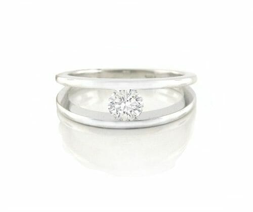 Solitaire Diamond Engagement Ring 016