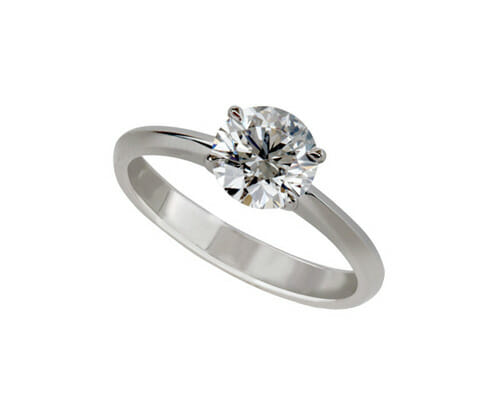MS Signature Solitaire Diamond Engagement Ring