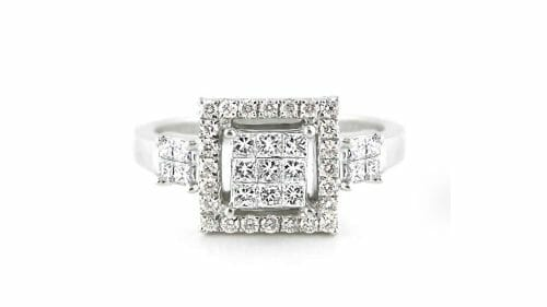 Square Cluster Ring with Halo