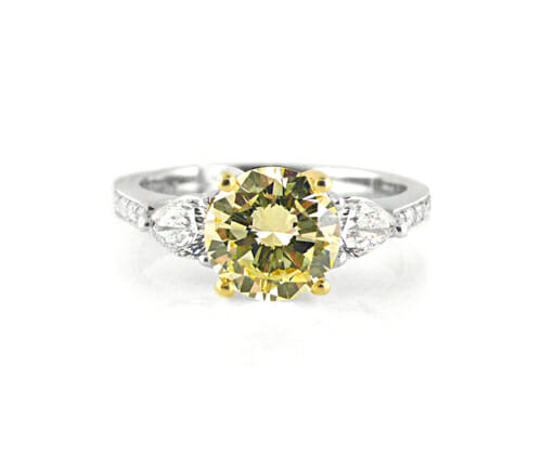 Fancy Coloured Diamond Rings 11