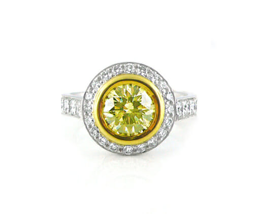 Fancy Coloured Diamond Rings 12
