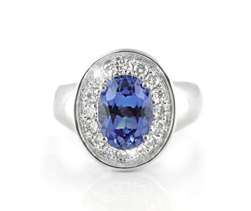 tanzanite & daimond ring