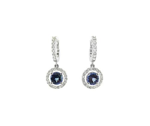 Rare Tanzanite & Diamond Earrings 10