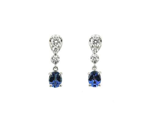 Rare Tanzanite & Diamond Earrings 11
