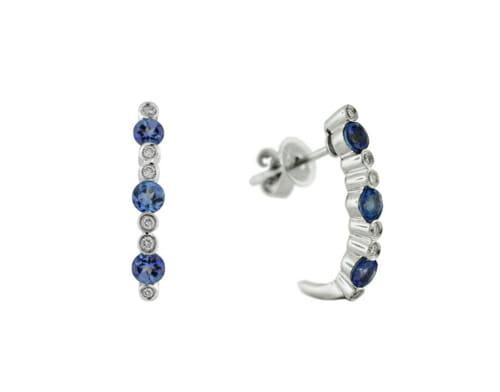Rare Tanzanite & Diamond Earrings 12