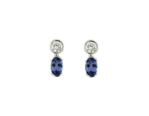 Rare Tanzanite & Diamond Earrings 14