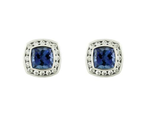 Rare Tanzanite & Diamond Earrings 4
