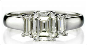 Asscher (Square Emerald) Cut - Diamond Ring