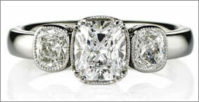 Brilliant Cushion Cut - Diamond Ring