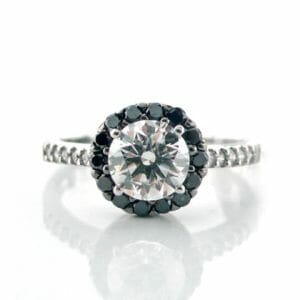 Diamond Halo Ring 019