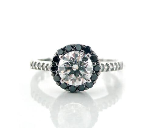 Diamond Halo Ring 019