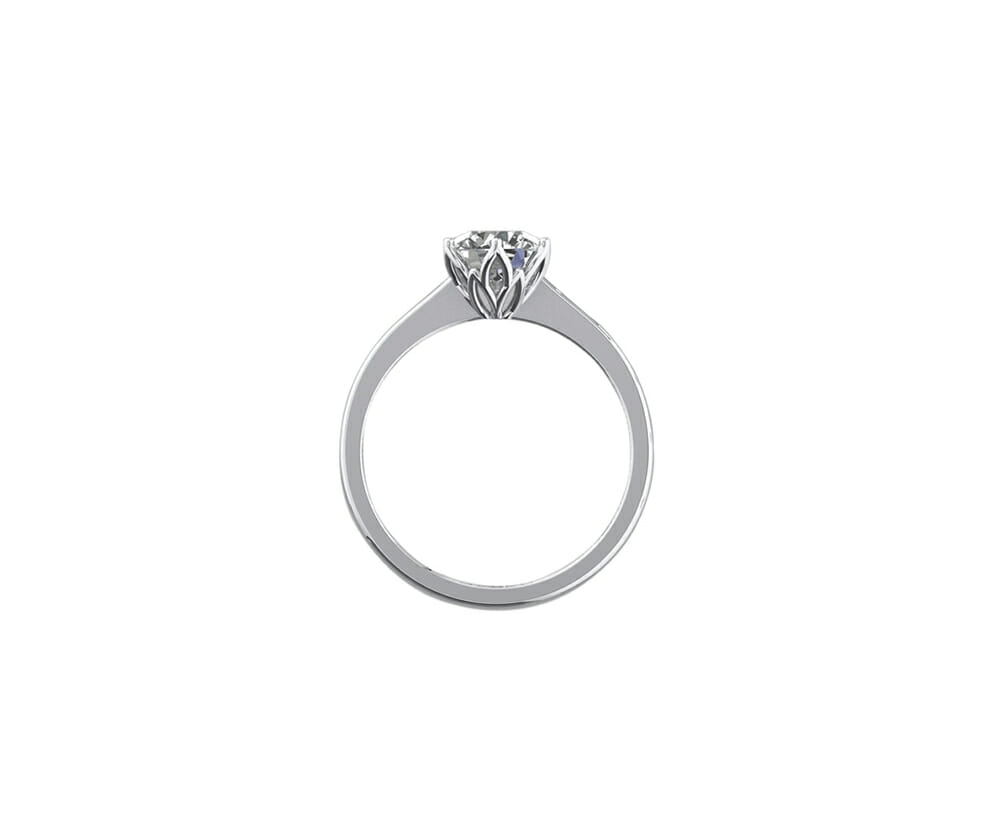 Petal Solitaire Diamond Engagement Ring