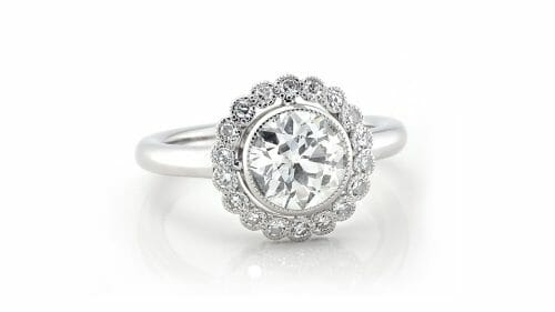 Old Cut Halo Ring