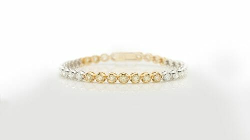 Yellow & White Diamond Tennis Bracelet
