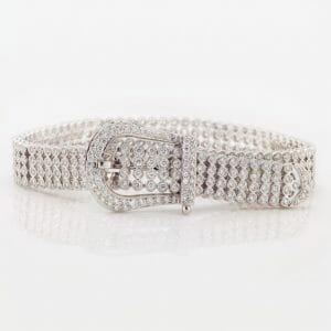 Diamond buckle bracelet |