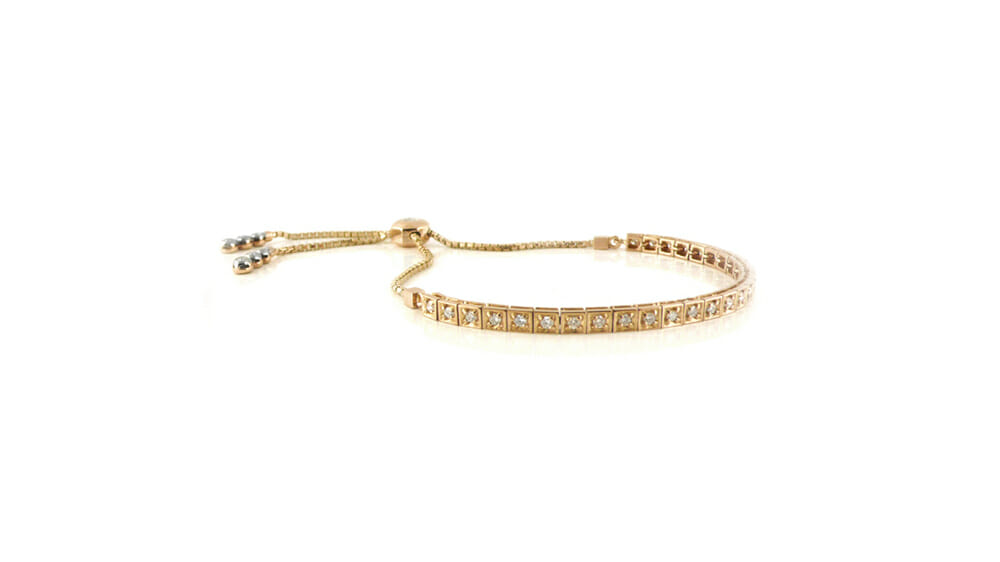 Square-Set Diamond Slider Bracelet