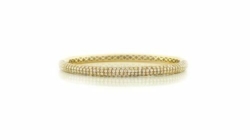 Yellow Gold Fancy Diamond Bangle