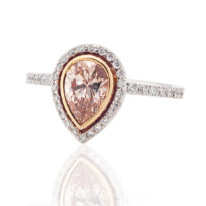 Rsoe Gold Diamond Halo Ring