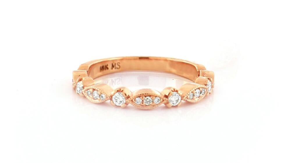vintage inspired eternity ring