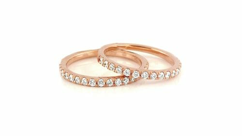 Rose Gold and Diamond Eternity Rings