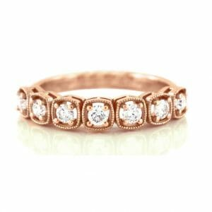 cushion vintage inspired ring | 18ct Rose Gold Diamond Ring