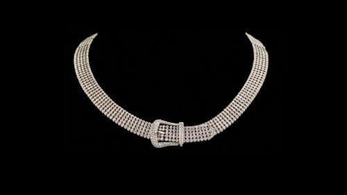 Diamond Buckle Necklace