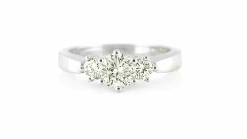 Round Diamond Trilogy Ring