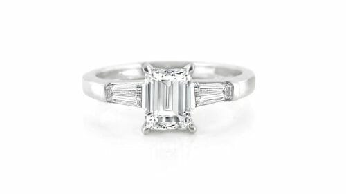 Baguette & Tapered Diamond Trilogy Ring