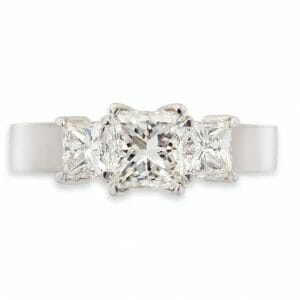 princess diamond trilogy ring | Diamond Engagement Rings Cape Town