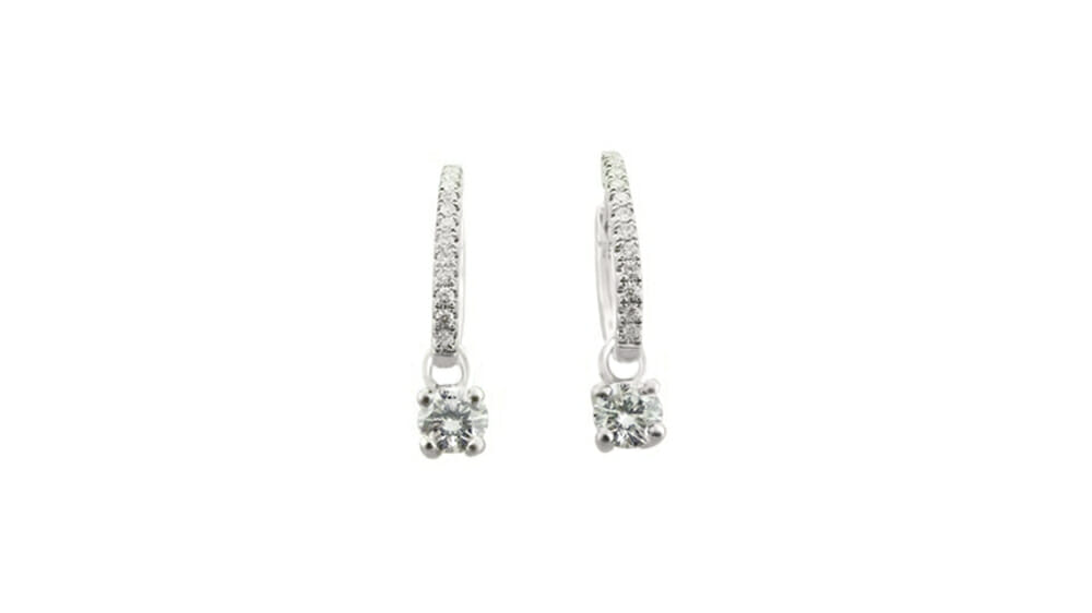 Hoop and drop diamond earrings 04