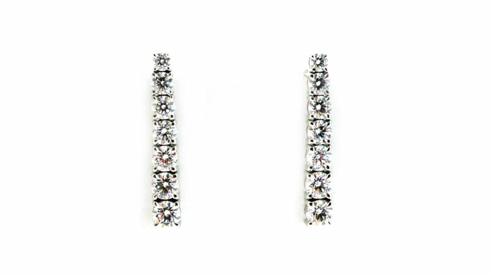 Diamond Earrings | claw set tennis tennis diamond earrings