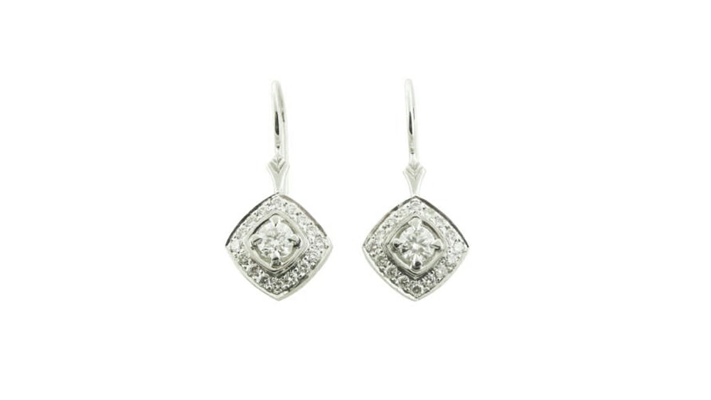 Diamond Earrings | Diamond Drop shaped earrings.