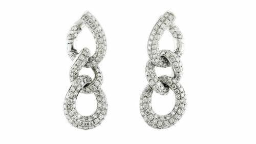 Diamond Earrings | Diamond Fancy Link Earrings