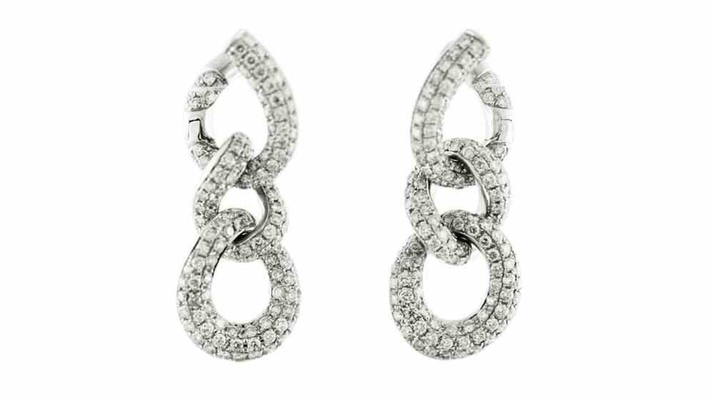 Diamond Earrings | Diamond Fancy Link Earrings