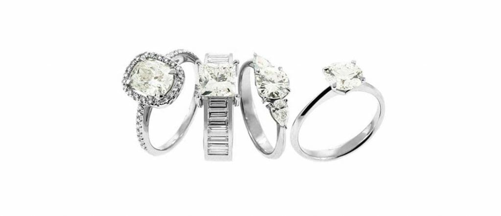 Various engagement ring styles