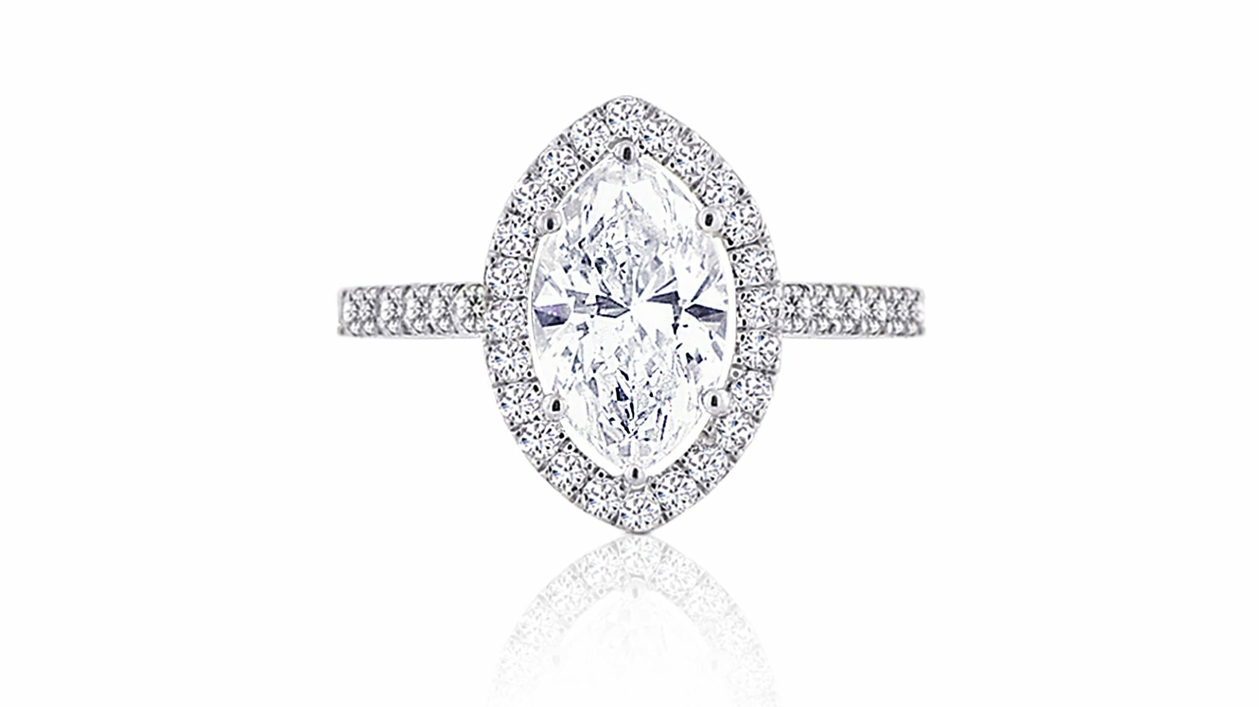 Marquise Halo Ring | Diamond Ring