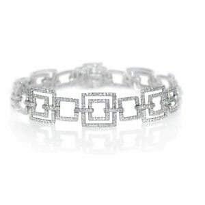 Square Shaped Bracelet | Square Shaped bracelet with diamonds.