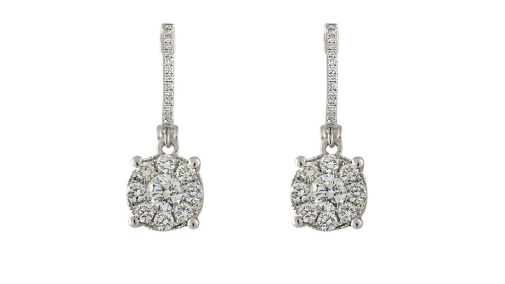 Diamond Earrings | Hoop and diamond earrings