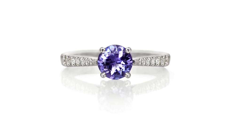 Tanzanite & Diamond Ring | Tanzanite & Diamond Ring