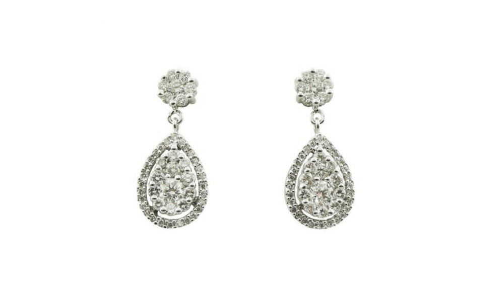 Diamond Earrings | Teardrop Diamond Pavé Drops