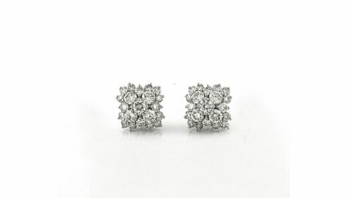 Fancy Diamond Clusters | Fancy diamond cluster stud diamond earrings