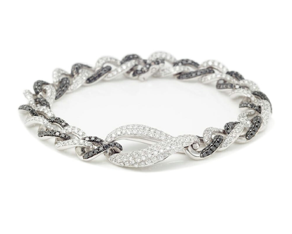 Black & White Diamond Jewellery Collection | Black & White Diamond Fancy Link Bracelet