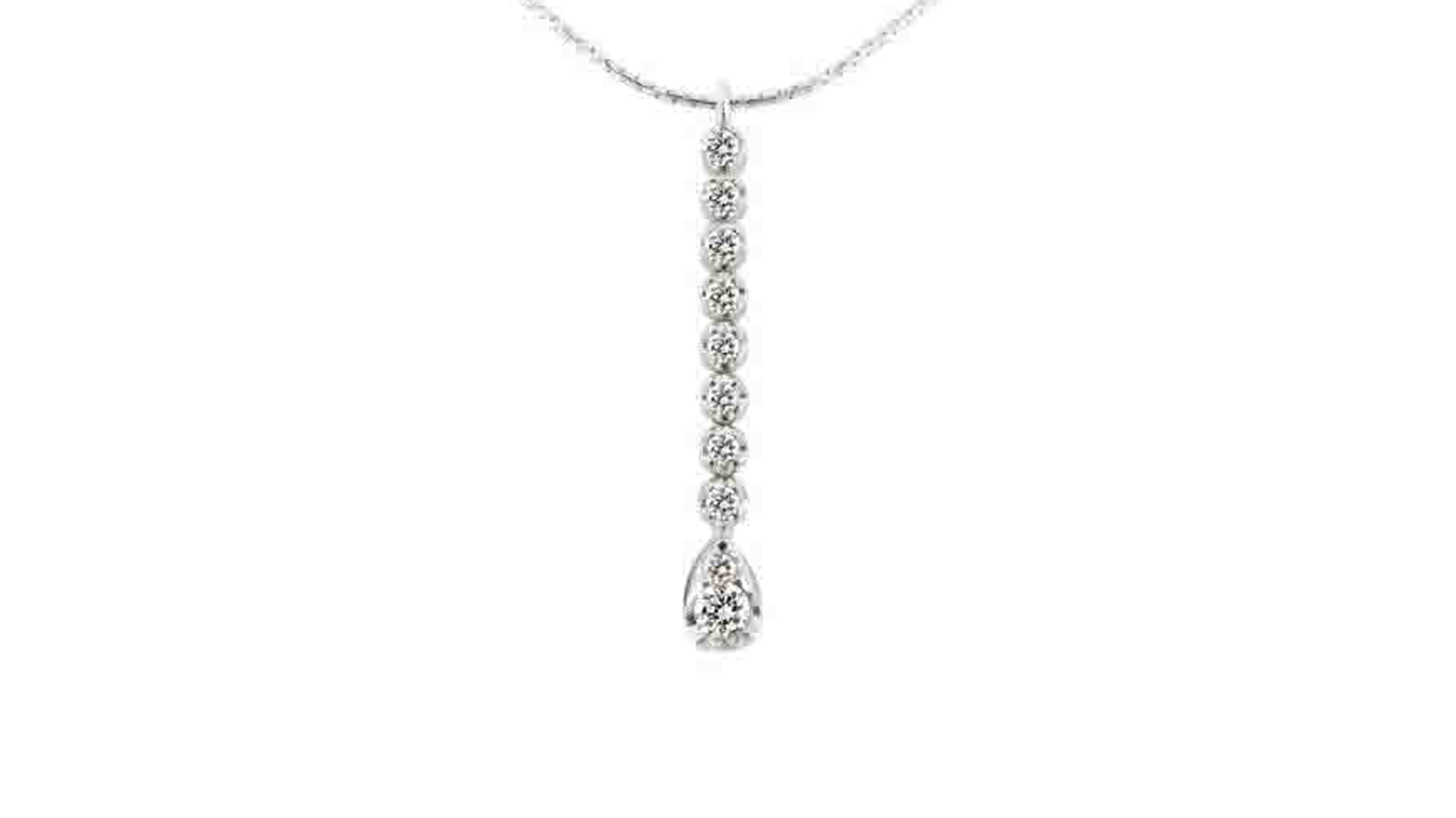 Diamond Drop Pendant | Set in white gold