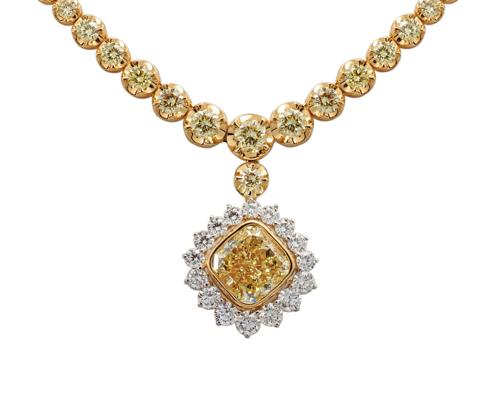 Show Stoppers Jewellery Collection | African Glory, White & Yellow Gold Yellow Diamond and White Diamond Neckpiece