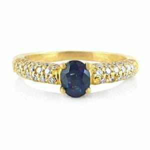 Diamond & Sapphire Gemstone Ring | 18ct Yellow Gold