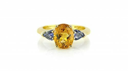Citrine & Tanzanite Gemstone Ring
