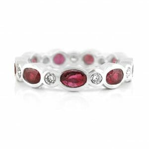 Diamond & Ruby Eternity Ring ?